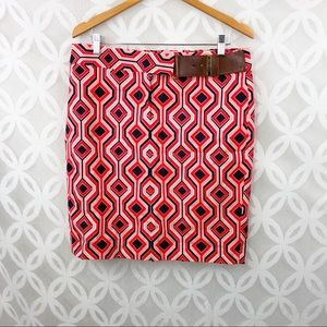 Michael Kors Geometric Print Mini Skirt